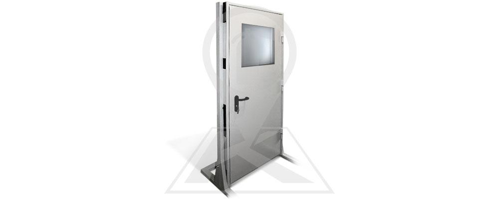 Дверь противопожарная однопольная со стеклом
